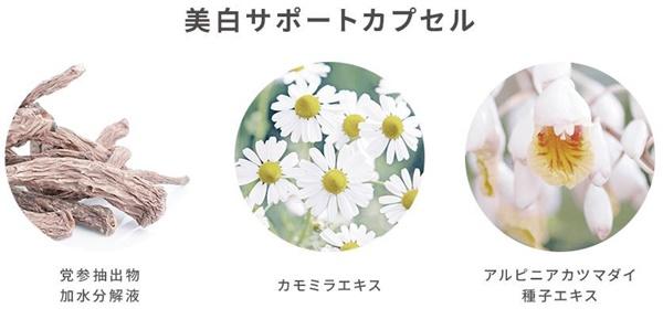 イビサクリームの美白をサポートする成分