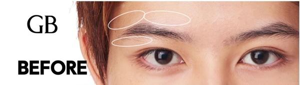 女性が好むナチュラル眉毛のためにカットする部位